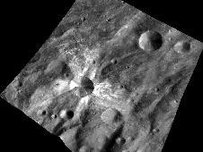 Canuleia, about 6 miles (10 kilometers)<br /> in diameter, is distinguished by the<br /> rays of bright material that streak out<br /> from it.<br /> Image credit: NASA/JPL-Caltech/UCLA/<br /> MPS/DLR/PSI/Brown&nbsp;&nbsp;<br /> <a href='http://www.nasa.gov/mission_pages/dawn/multimedia/pia16175.html' class='bbc_url' title='External link' rel='nofollow external'>� Full image and caption</a>