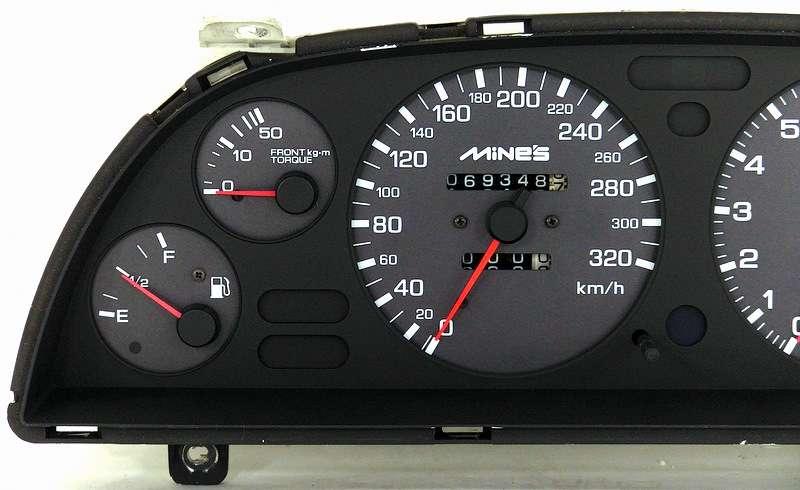 Mines R32 GTR 320kmh gauge cluster BNR32 Skyline 1991+ RB26DETT