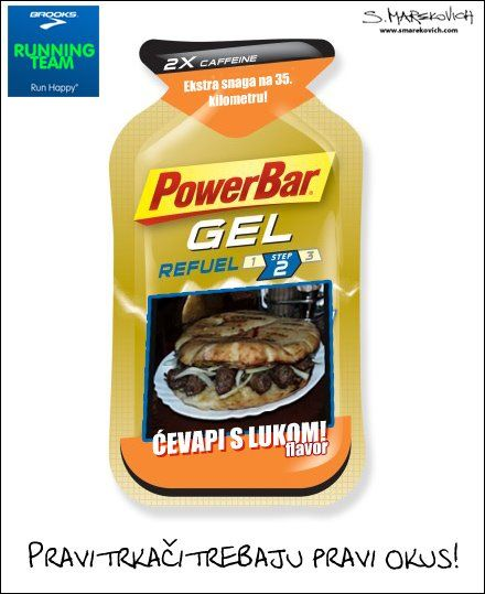 Energy gel – ćevapi s lukom