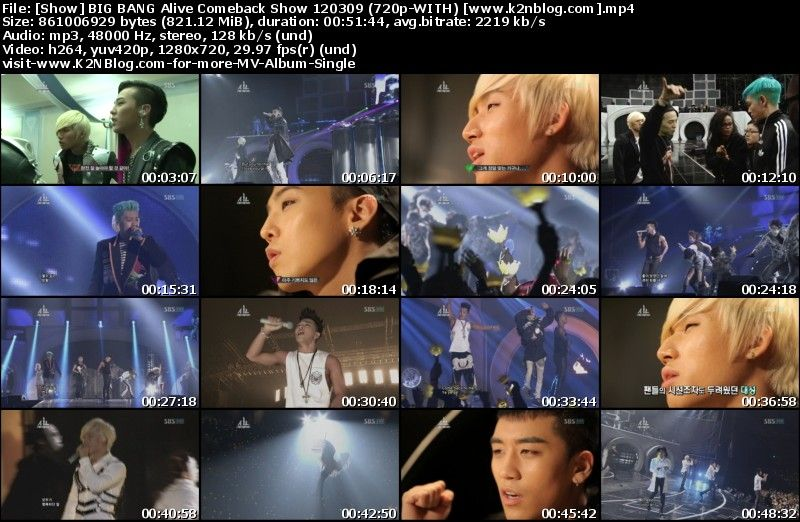 [Show] BIG BANG Alive Comeback Show 120309